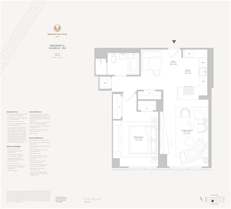 1 Of 9 Floor Plan 2 17 51st Avenue - manhattan view at mima tower residences 1 br for sale