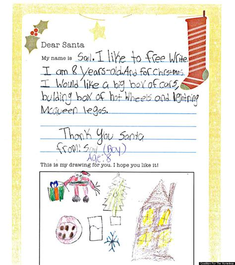 Thank You Letter To 1st Grade Homeless Letters To Santa Remind Us Not Everyone