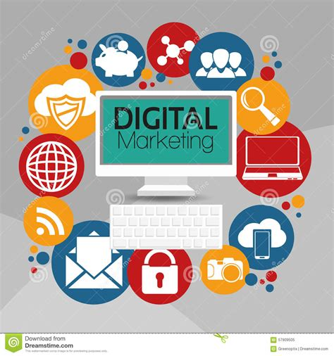 illustration graphic vector digital marketing stock vector