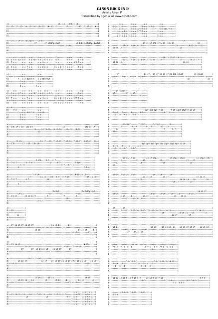 tutorial guitar canon rock guitar guitar tabs of canon rock guitar tabs or guitar