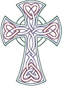 redwork celtic trinity knot cross embroidery design
