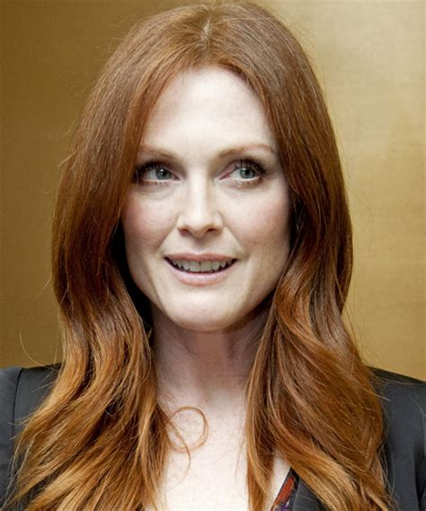julianne moore natural hair color julianne moore long straight casual hairstyle