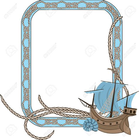 boat border clipart nautical clipart border shell border sea frame party