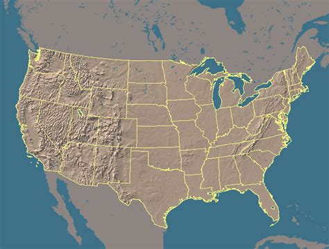 a relief map of the united states eureka county nevada maps