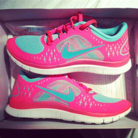 shoes nike pink blue sneakers nike lorna pink