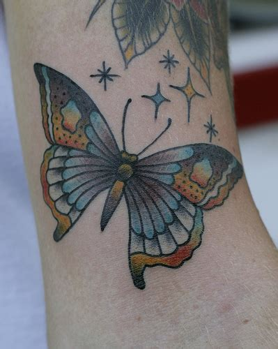 butterfly tattoo neo traditional ink