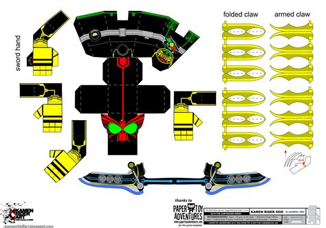 What Paper To Use For Papercraft - kamen rider kamen rider ooo papercraft