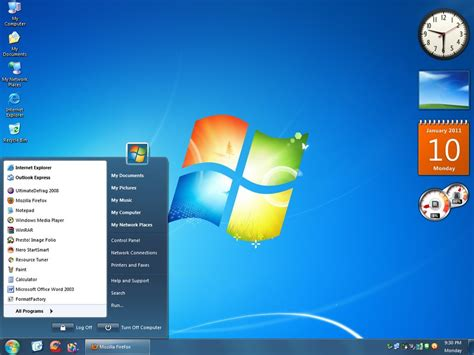 windows 7 ultimate themes download for xp seven xp visual style theme for windows7