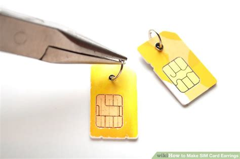 make sim card how to make sim card earrings 5 steps with pictures