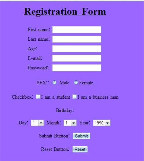 form layout exles html html forms design or building