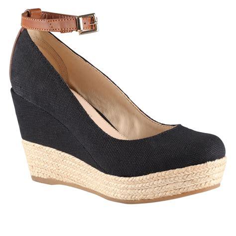Sale Aldo Black Wedges Ori aldo grenama almond toe wedge espadrille court shoes in