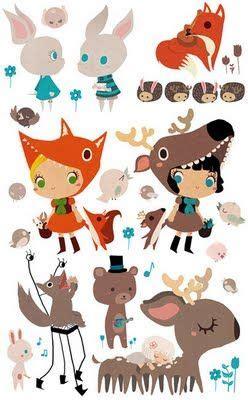 Vorlagen Fuß 4049 by Rozenn Bothuon Illustrations