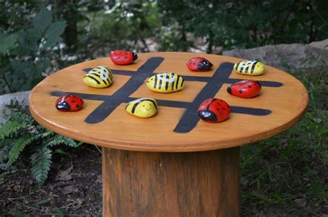 tic tac toe table tic tac toe garden table nature and notes