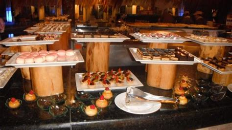el dorado new year buffet the health bar was converted to a dessert buffet for the