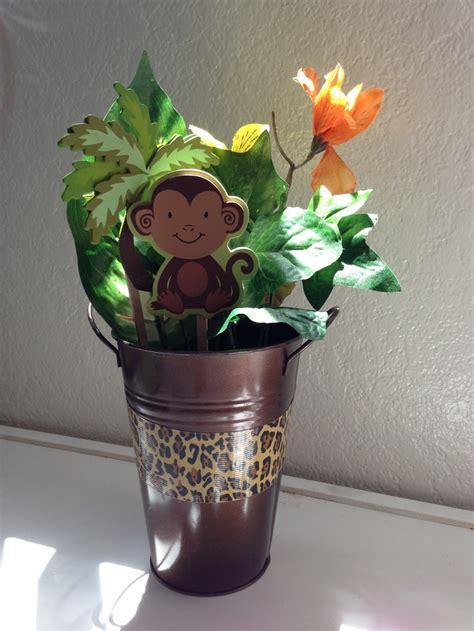 monkey baby shower centerpieces monkey centerpiece baby shower
