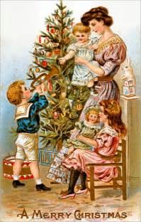 Vintage Christmas Home Decor by Vintage Ephemera Victorian Christmas Card