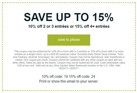 olive garden coupons to scan 15 off olive garden coupon code olive garden 2018 codes