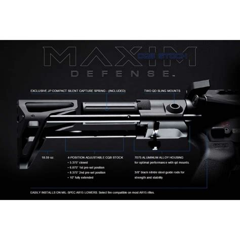 jp stock maxim defense cqb pdw stock for ar15 w jp silent
