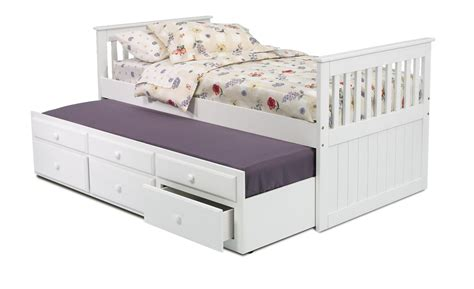 white trundle bed with storage chelsea home 366500 twin mission bed with trundle and