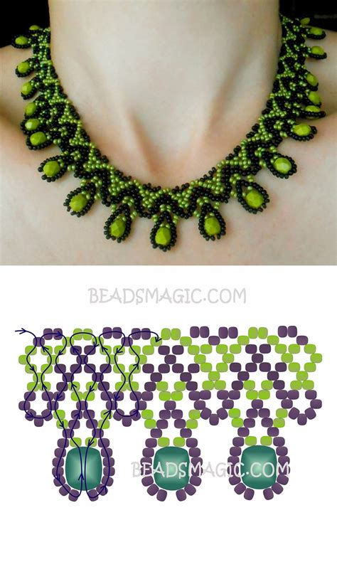 seed bead choker patterns free pattern for necklace daniela seed 11 0 faceted