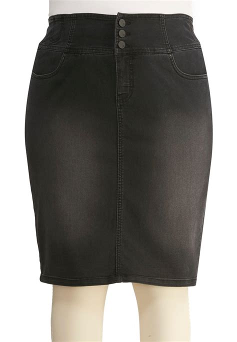 black wash denim pencil skirt plus skirts cato fashions