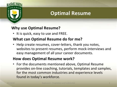 Optimal Resume Rasmussen College