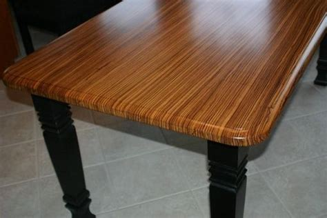 hand  zebrawood kitchen table  carolina wood designs