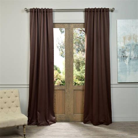 Brown Blackout Curtains Exclusive Fabrics Furnishings Java Brown Blackout Curtain 50 In W X 84 In L Pair Boch