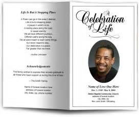 funeral program template funeral programs and memorials in loving memory