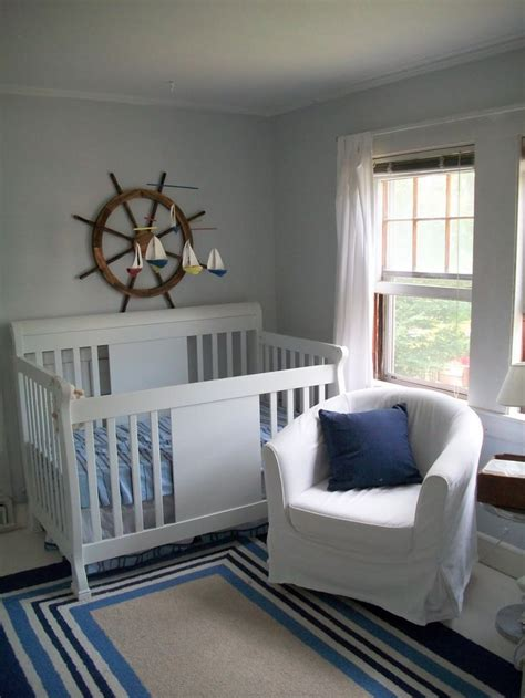 Sailboat Crib by Sailboat Mobile Our Boy Nursery