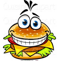 Burger pictures clip art cuisine clipart of a happy cheeseburger by