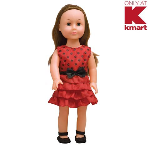 kmart doll clothes just kidz 18 quot doll with pink dress