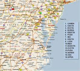 map of carolina and virginia cities about region 1