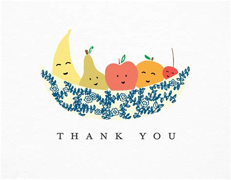 Mother Day Card thank you fruit bowl by paula amp waffle postable