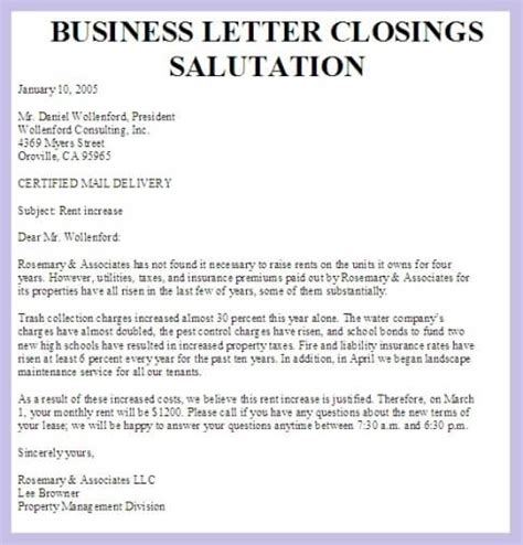 salutations for business letter the best letter sle
