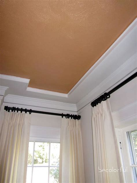 living room copper ceiling trim  ceiling  crown