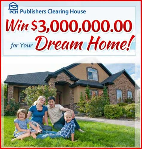 Mega Millions Clearing House Sweepstakes - win 3 million dollars for your dream home pch sweepstakes sweeps maniac