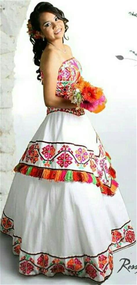 imagenes de vestidos de novia regionales bordado tenek vestido xv huasteca potosina xv rosel