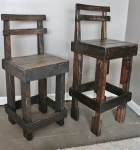 pallet wood bar stool with back three of these for