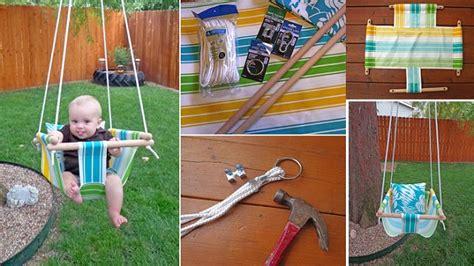 diy infant swing diy hammock type baby swing home design garden