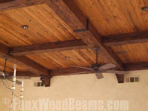 ceiling beam straps faux wood workshop