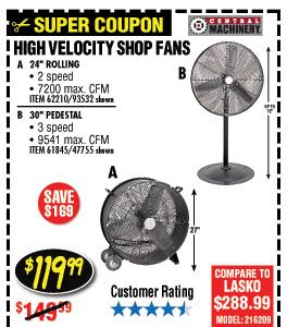 shop fan harbor freight savings coupons at harbor freight tools