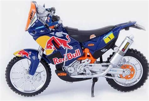 Ktm Diecast Models 1 18 Scale Blue Bburago Diecast Ktm 450 Rally Model
