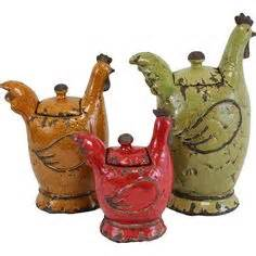 set of 3 rooster canisters country kitchen accent home set of 3 rooster canisters country kitchen accent home