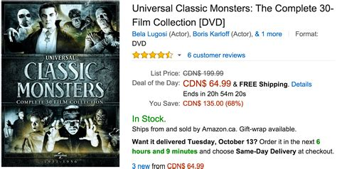 one day film amazon amazon canada deals of the day save 68 on universal