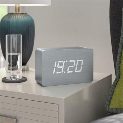 brayden studio gingko digital brick desktop clock wayfair