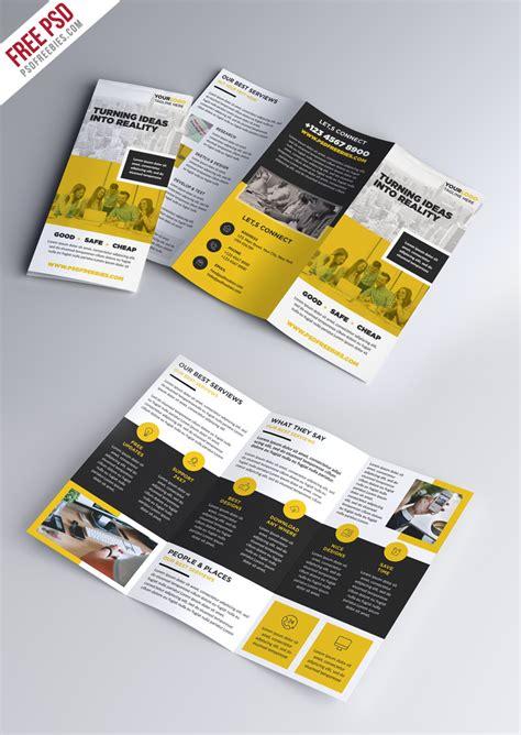 mailer templates psd multipurpose tri fold brochure psd template psdfreebies