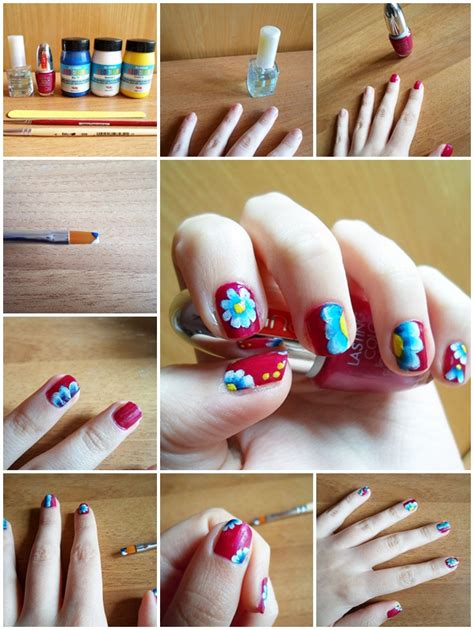 nail art tutorial step step video how to make spring floral nail art step by step diy