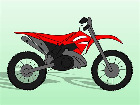 how to draw a motocross bike how to draw dirt bikes 10 steps with pictures wikihow
