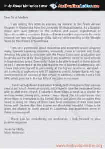 Best Motivation Letter for Study Abroad   Motivation Letter
